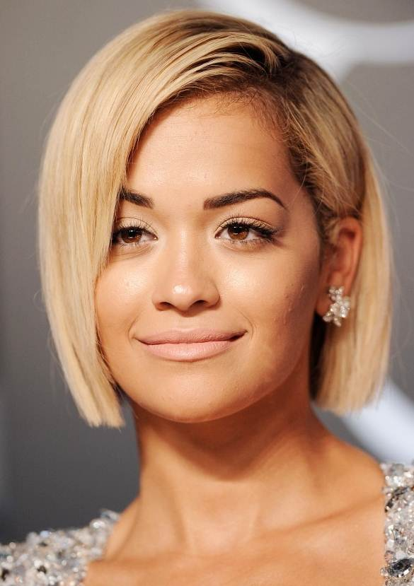 Rita Ora S Blonde Blunt Bob Prom Casual Party Awards