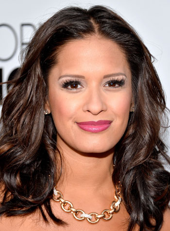 Rocsi Diaz's Chic Curly Medium Hairstyle
