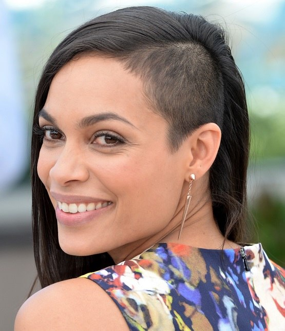 Rosario Dawson's Side Buzz Cut At Cannes Film Festival 2014