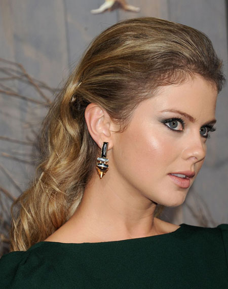 Rose McIver's Formal Faux Low Ponytail Hairstyle