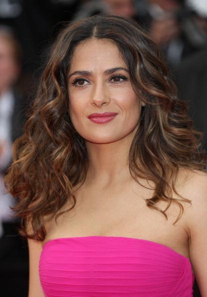Salma Hayek's Long Wavy Hairstyle At Cannes Film Festival 2014