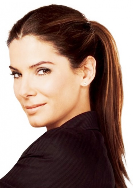 Sandra Bullock In a Sleek Ponytail