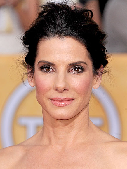 Sandra Bullock's Messy Updo at the 2014 SAG Awards
