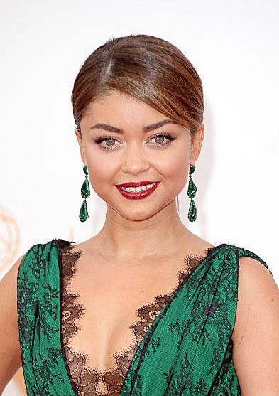 Sarah Hyland's Classy Sleek Ponytail at the 2013 Primetime Emmy Awards