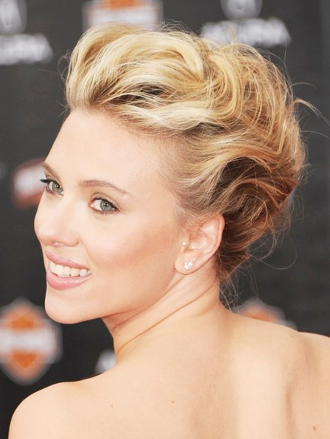 Scarlett Johansson Romantic Loose French Twist Updo for Weddings