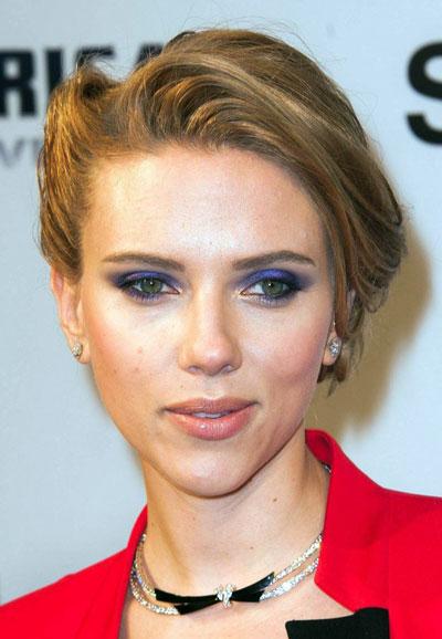 Scarlett Johansson's Intricate Loose Chignon Updo