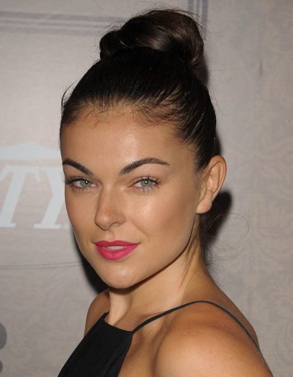 Serinda Swan's Sophisticated High Ballerina Bun