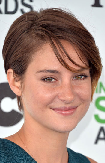 Shailene Woodley's Hip Pixie with Side Bangs Hairstyle