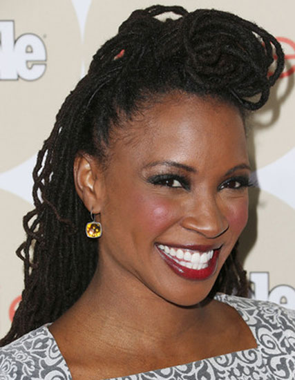 Shanola Hampton's Quirky Dreadlocks Pompadour Half Up Hairstyle