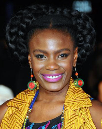 Shingai Shoniwa's Quirky Milkmaid Braid Hairstyle