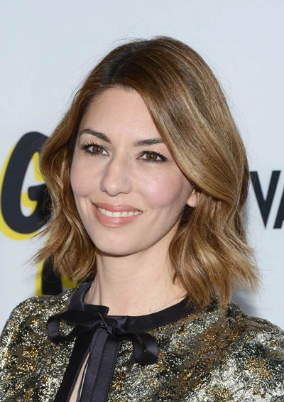 Sofia Coppola's Modish Wavy Medium Hairstyle