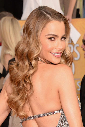 Sofia Vergara's Sexy Long Wavy Hairstyle at the 2014 SAG Awards