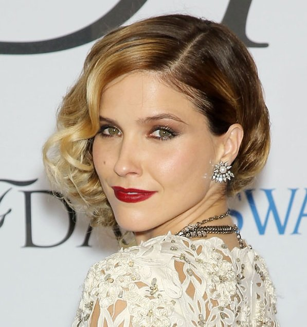 Sophia Bush's Glamorous Curly Bob At CFDA Fashion Awards 2014
