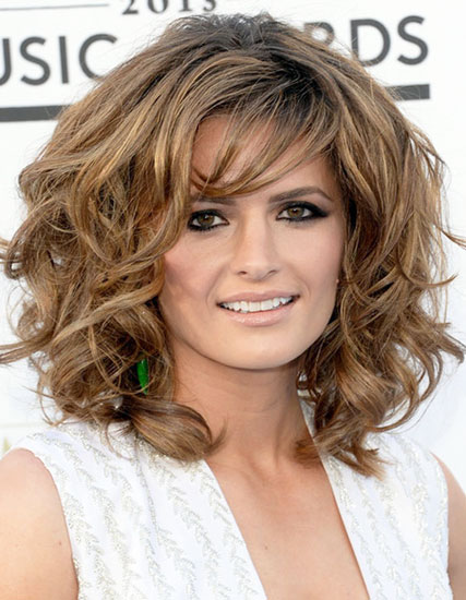 Stana Katic's Playful Curly Big Hair