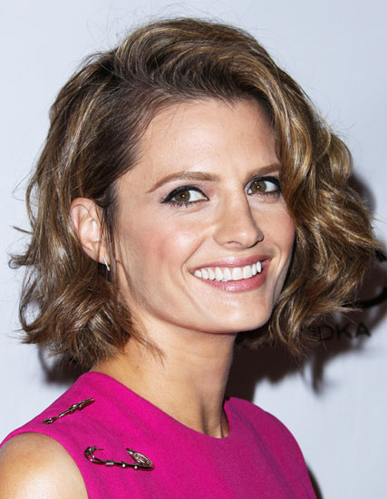 Stana Katic's Chic Short Wavy Bob