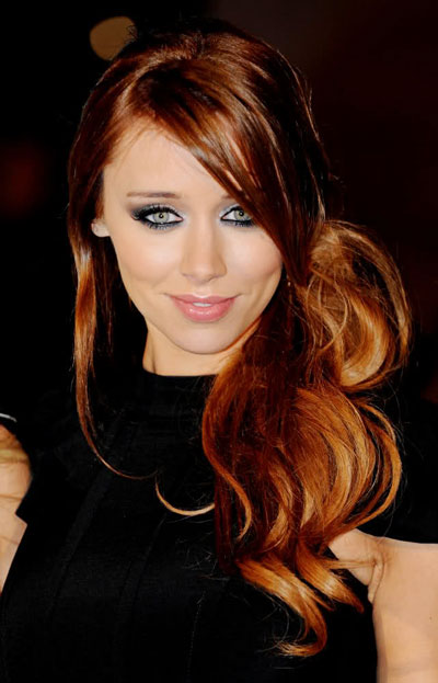 Una Healy's Sexy Tousled Side Ponytail with Side Bangs