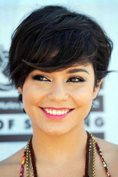 Vanessa Hudgen's Sassy Short Choppy Hairstyle