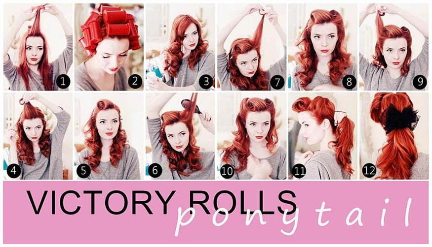 Jane Aldridge's Low Ponytail with Victory Rolls Hairstyle Tutorial