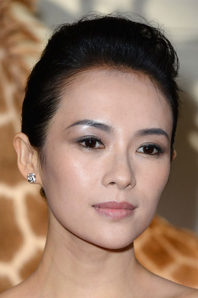 Zhang Ziyi's Beautiful Simple Bun Hairstyle