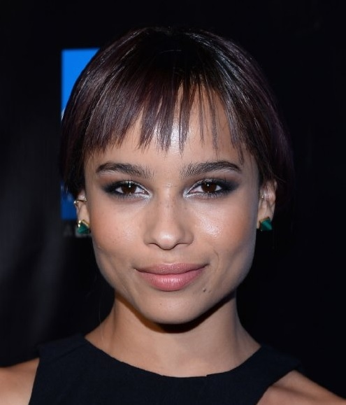 Zoe Kravitz's Ultra Short Bob With Wispy Bangs