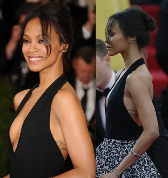 Zoe Saldana's Updo At Met Ball 2014