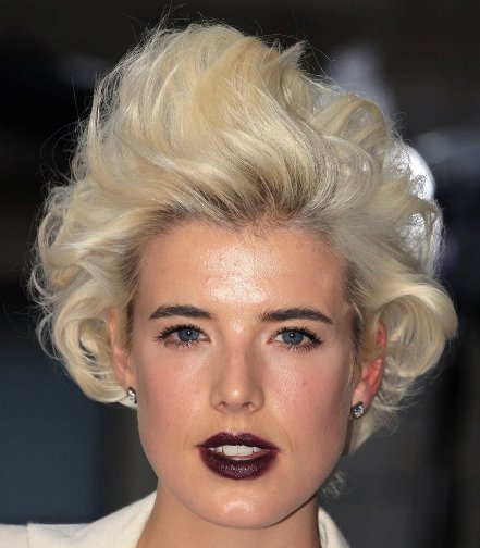 Agyness Deyn Blonde Curly Hairstyle - Party, Formal, Evening ...