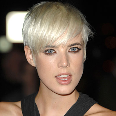 Agyness Deyn Short Blonde Chic Straight Cropped Hair