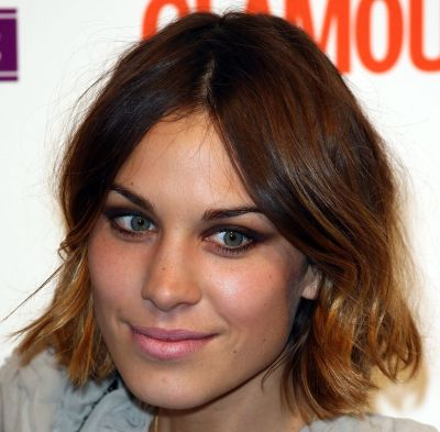 Alexa Chung's Brown Hair In Cute Sassy Short Bob Hairstyle