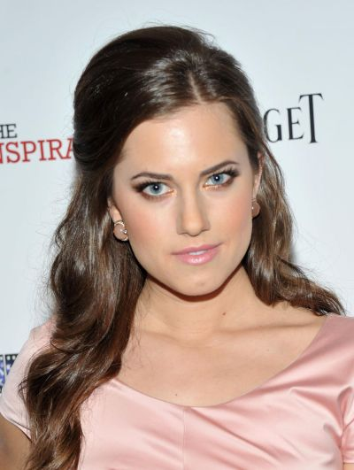 Allison Williams's Long Brunette Straight Hair In Half-Up Hairdo