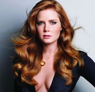 Amy Adams's Glamorous Sexy Long Red Curly Formal Hairstyle