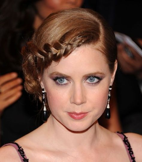 Amy Adams's Long Red Hair In Pretty Updo With Braid