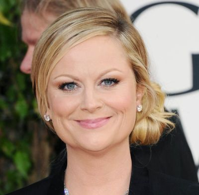 Amy Poehler's Straight Blonde Hair In Elegant Simple Updo