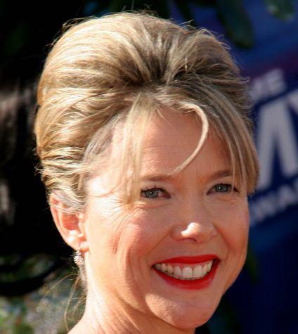 Annette Bening's Highlighted Brown Hair In Elegant Formal Updo