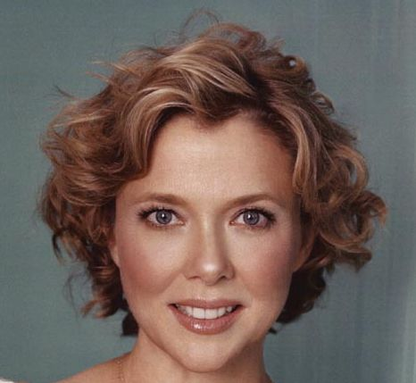 Annette Bening's Short Brunette Hair In Curly Mature Sassy Hairstyle