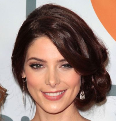 Ashley Greene's Long Brown Hair In Elegant Formal Updo