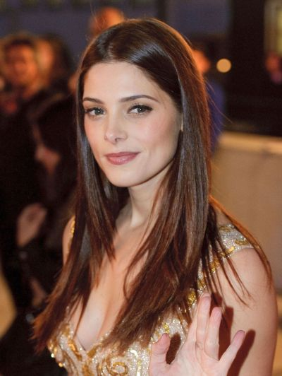 Ashley Greene's Long Sleek Straight Hair With Middle Part