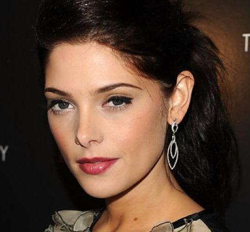 Ashley Greene's Long Straight Brown Hair In Simple Ponytail Hairdo