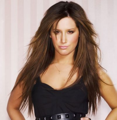 Ashley Tisdale's Long Brown Hair In Sexy Straight Hairstyle