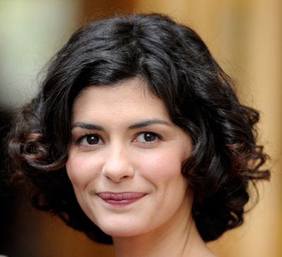 Audrey Tautou's Brown Hair In Medium-Length Curly Hairstyle