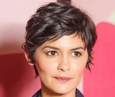 Audrey Tautou's Brown Hair In Wavy Short Mature Hairstyle