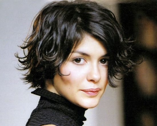 Audrey Tautou's Brunette Hair In Short Flipped Out Playful Hairstyle