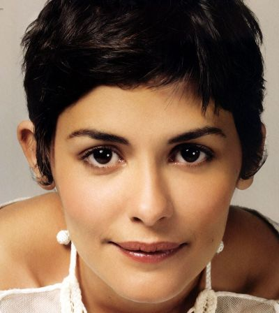 Audrey Tautou's Dark Brown Hair In Short Pixie Cut Hairstyle
