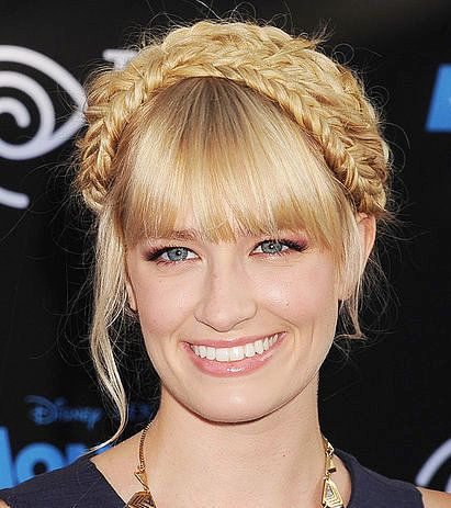 Beth Behrs's Blonde Hair In Pretty Braided Formal Updo Hairdo