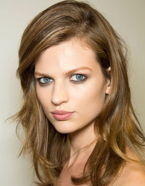 Bette Franke Brown Hair In Layered Medium-Length Hairstyle