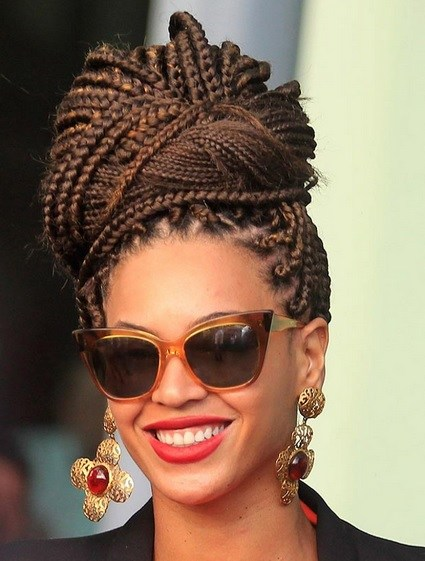 Beyonce Knowles Classy Box Braids Beehive Prom Wedding