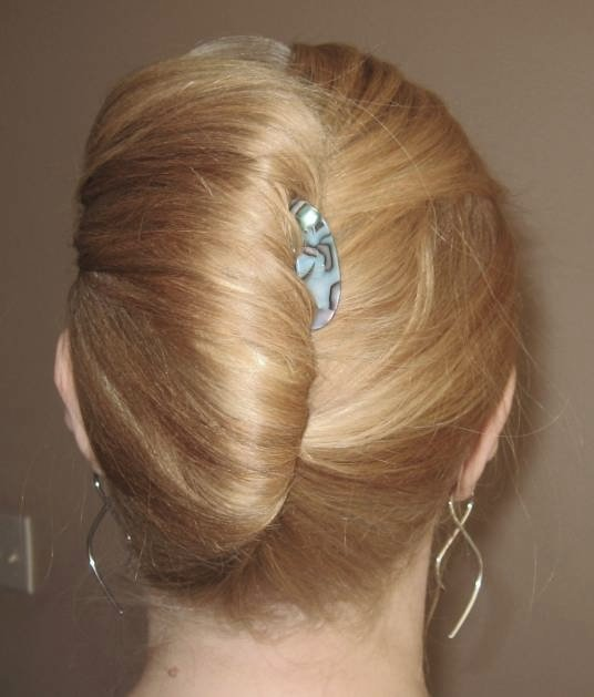 Blonde Hair In Elegant French Twist Formal Updo Hairdo