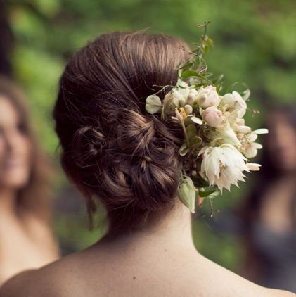 Cluster Of Buns With Flowers Wedding Careforhair Co Uk