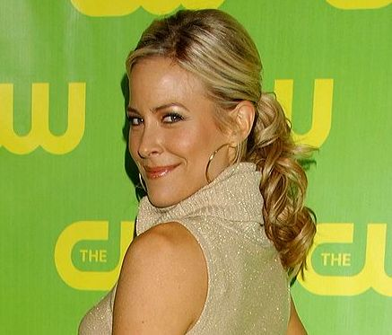 Brittany Daniel's Long Blonde Low Curly Ponytail