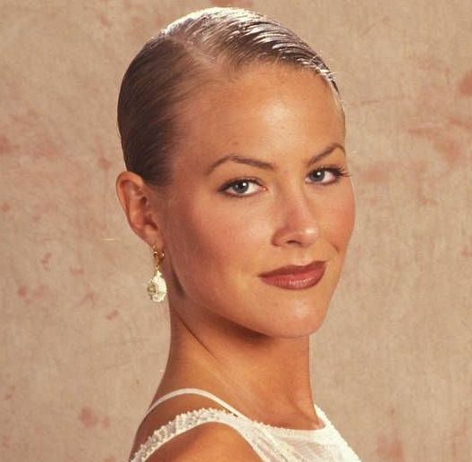 Brittany Daniel's Short Straight Sleek Formal Blonde Hairstyle
