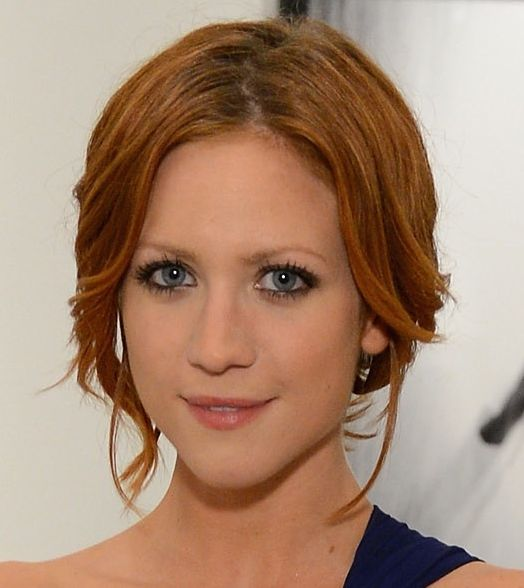 Brittany Snow's Auburn Hair Im Simple Formal Updo
